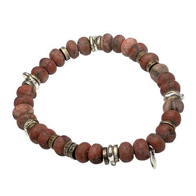 Matte Red Tigers Eye Power Stone Bracelet