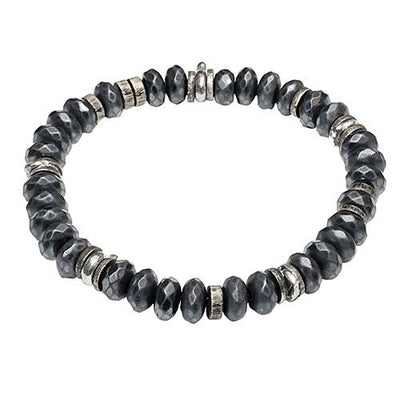 Faceted Hematite Power Stone Bracelet