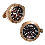 Rose Gold Sports Watch Cufflinks by Jan Leslie