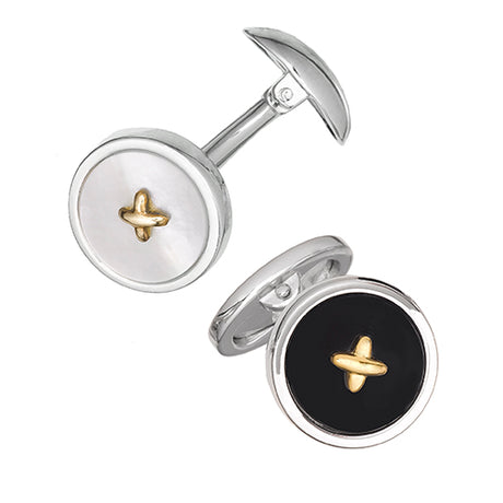 Gemstone Cufflinks with 24K Vermeil Thread - Jan Leslie Cufflinks and Accessories