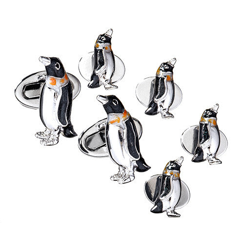 Penguin Tuxedo Cufflinks and Studs by Jan Leslie
