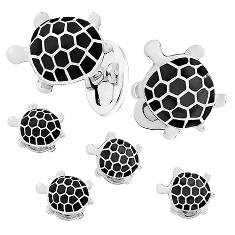Enameled Turtle Tuxedo Formal Set - Cufflinks and Studs - Jan Leslie Cufflinks and Accessories