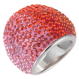 Pink and Orange Crystal Ombre Bling Ring by Jan Leslie