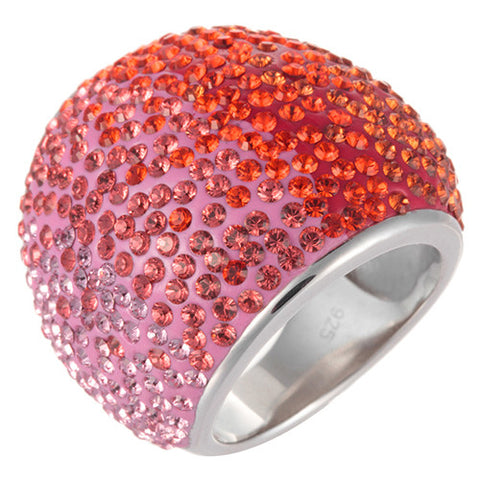 Crystal Ombre Bling Ring