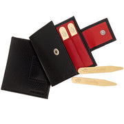 Collar Stays and Leather Case Combination - Jan Leslie Cufflinks and Accessories