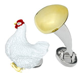 Jan Leslie Signature Chicken and Egg Cufflinks