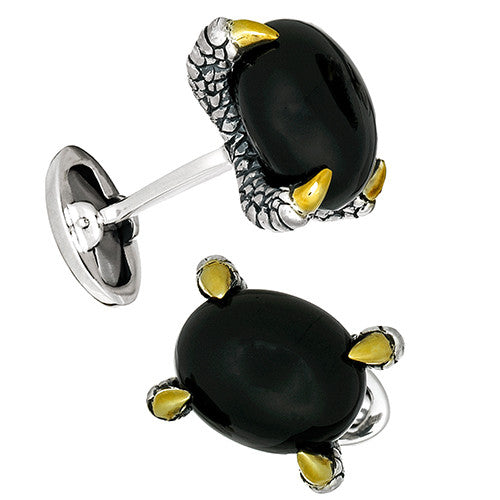 Jan Leslie Red Agate Claw Cufflinks