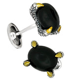 Jan Leslie Black Onyx Claw Cufflinks