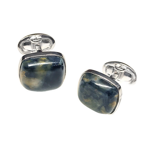 Pietersite Sterling Silver Cufflinks