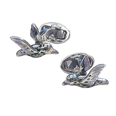 Abalone Hummingbird Sterling Silver Cufflinks Sale Only Jan Leslie Jan Leslie