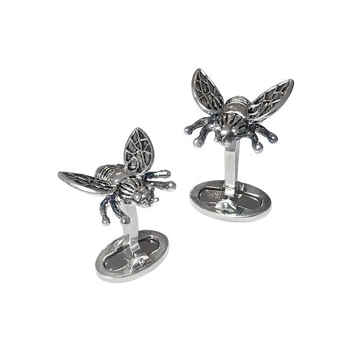 Fly Sterling Silver Cufflinks