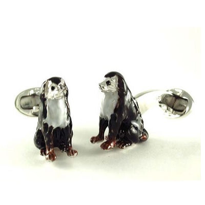 Bernese Mountain Dog Sterling Silver Cufflinks Cufflinks Jan Leslie Jan Leslie