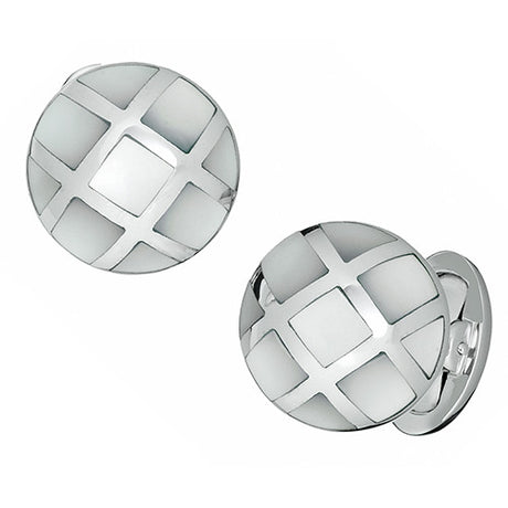 Caged Gemstone Cufflinks - Jan Leslie Cufflinks and Accessories