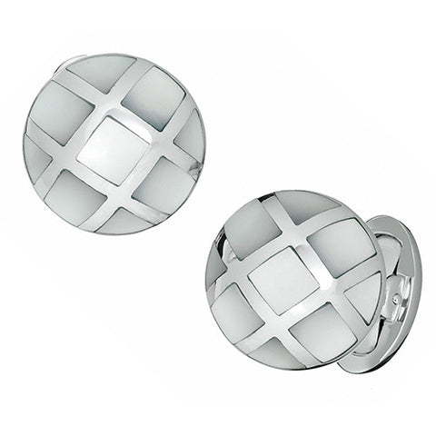 Caged Gemstone Cufflinks