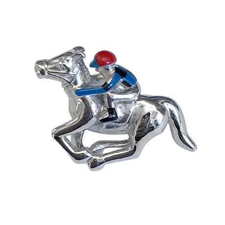 Horse and Jockey Lapel Pin - Jan Leslie Cufflinks and Accessories