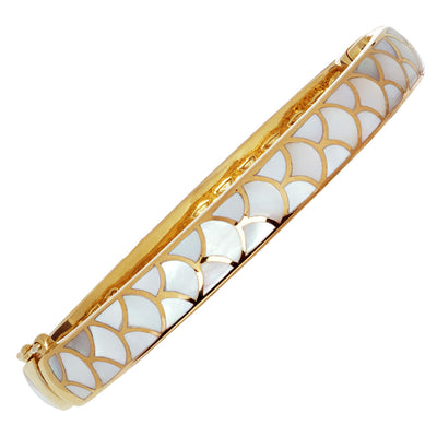 koi mother of pearl gold 7mm bangle