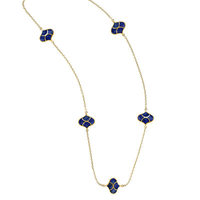 Lapis Vermeil 5 Station Koi Necklace