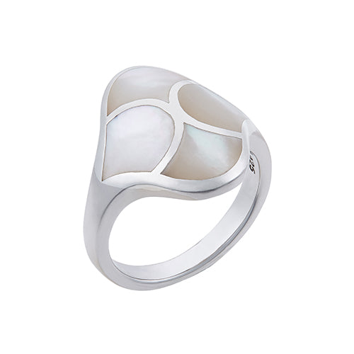 "Koi Cascade Mother of Pearl ""Longevity"" Ring"