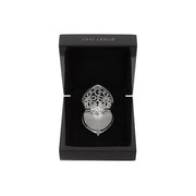 Heart-Shaped Engagement Ring Keeper Sterling Silver Locket