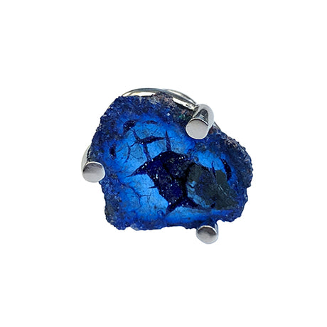 Azurite Geode Sterling Silver Lapel Pin - Jan Leslie Cufflinks and Accessories