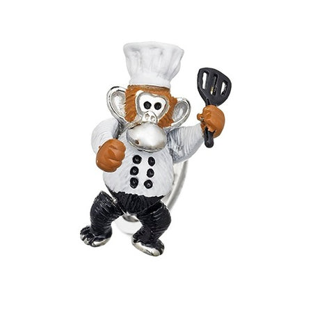 Moving Monkey Chef Lapel Pin