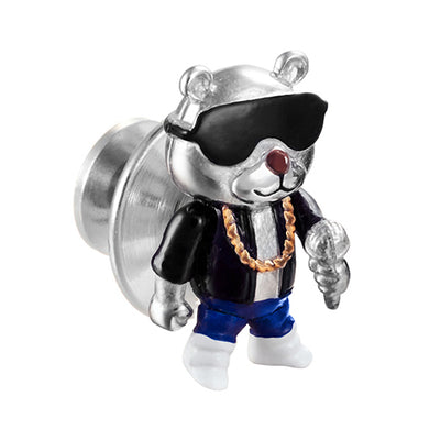 Rapper Bear Sterling Silver Lapel Pin Lapel Pins Jan Leslie Jan Leslie