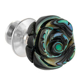 Abalone Gemstone Rose Lapel Pin by Jan Leslie