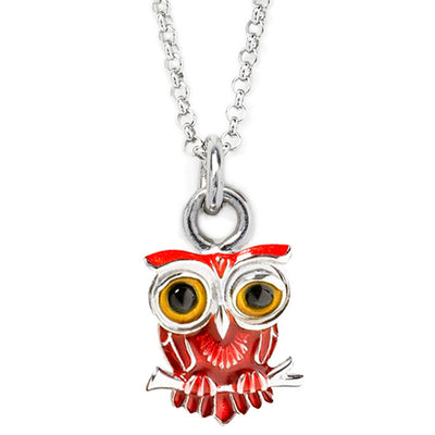 Owl Charm Necklace Sale Only Jan Leslie Red Jan Leslie