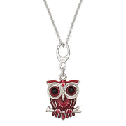 Brown Winking Owl Charm Necklace by Jan Leslie
