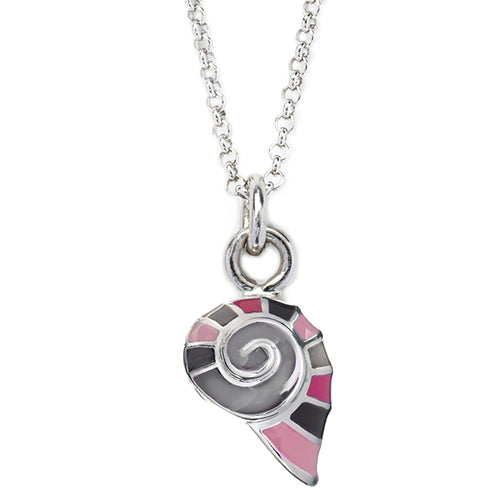 Pink Snail Shell Charm Necklace