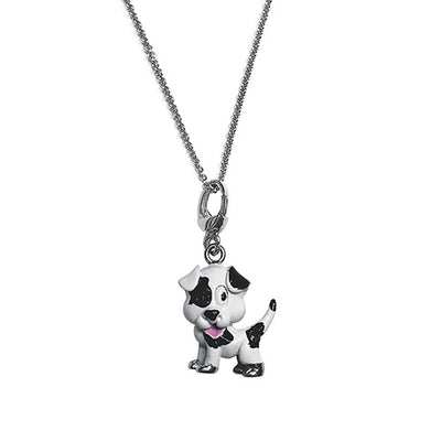 Playful Puppy Dog Charm Charms Jan Leslie Black & White Jan Leslie
