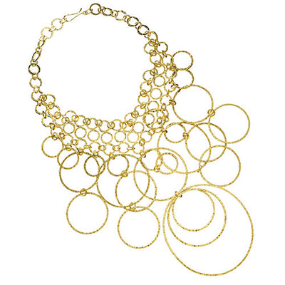 Gold Women‰۪s Loop Necklace by Jan Leslie