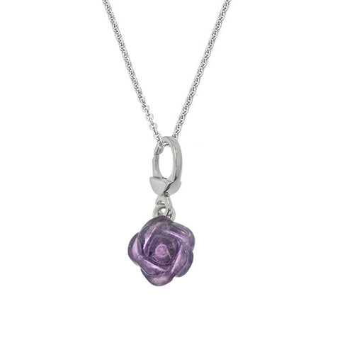 Monkey and Rose Charm Necklace