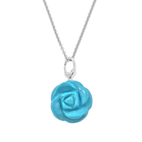 Large Gemstone Rose Pendant