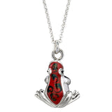 Red Silver and Enamel Colorful Frog Charm by Jan Leslie