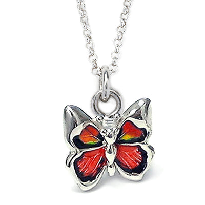 Red Butterfly Sterling Silver Charm Pendant Necklace Charms Jan Leslie Jan Leslie