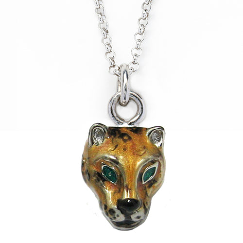 Wild Cat Charm Necklace