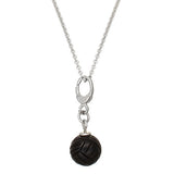 Black Onyx Mystic Knot Necklace by Jan Leslie