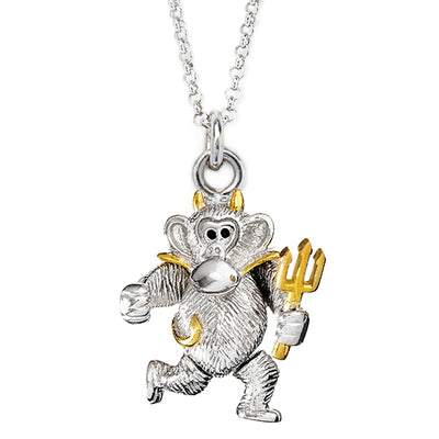 Two Tone Devil Monkey Charm - Jan Leslie Cufflinks and Accessories