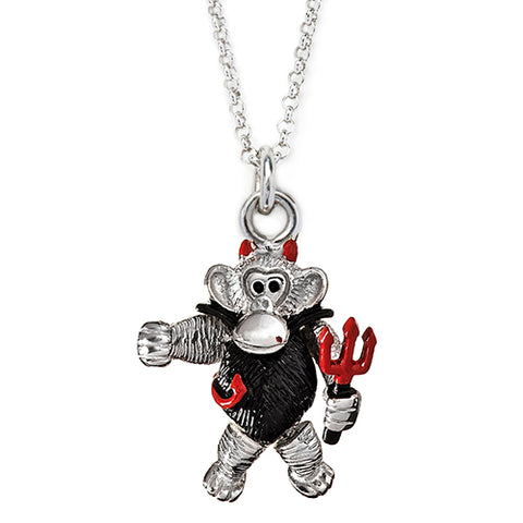 Enamel Devil Monkey Charm
