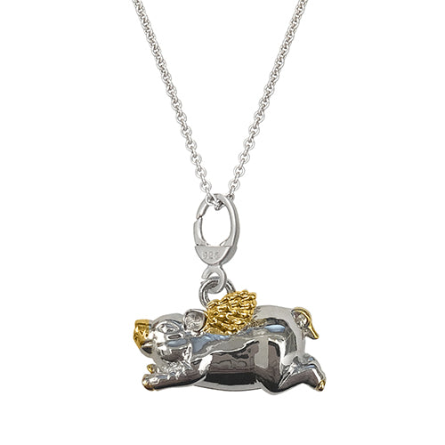 When Pigs Fly Charm Necklace - Jan Leslie Cufflinks and Accessories