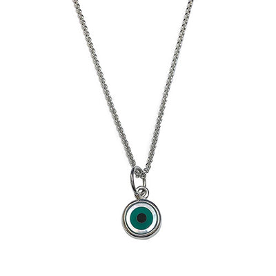 Evil Eye Pendant Charms Jan Leslie Agate-Flat Jan Leslie