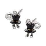 Rabbit in Top Hat Gift Cufflinks by Jan Leslie