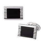 Onyx Rectangular Gemstone Cufflinks by Jan Leslie