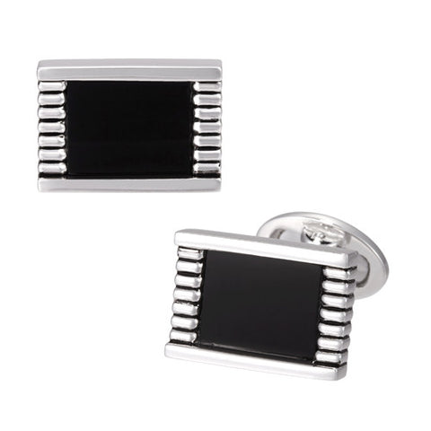 Onyx Rectangular Cufflinks