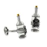 Sterling Silver Wine Bottle Cufflinks with 24K Vermeil - Jan Leslie Cufflinks and Accessories