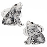 Howling Wolf Sterling Silver Cufflinks by Jan Leslie