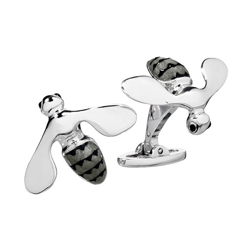 Triumphant Bee Silver Cufflinks