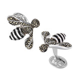 Sterling Silver Bee Cufflinks by Jan Leslie