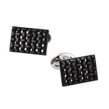 Onyx Grid Gemstone Cufflinks